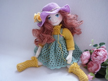 Doll joints body with outfit crochet pattern ( not include rose flowers)