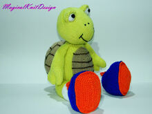 Jugi the tortoise knitting pattern
