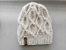 Pattern Bulky DNA Style Knit Hat