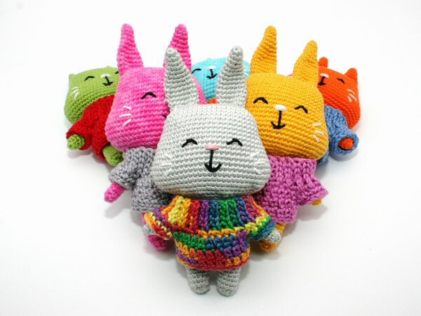 Little Bunny - with Sweater - Crochet Pattern