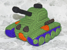 Little Toy Tank. Amigurumi pattern