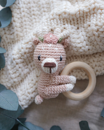 3 in 1 crochet pattern rattle crew | deer, bunny, bear