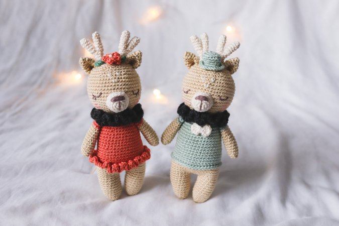 Crochet pattern deer couple