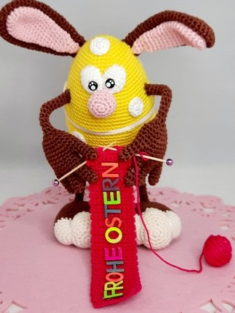 "Crochet Pattern ""Knitting Easter Egg"""