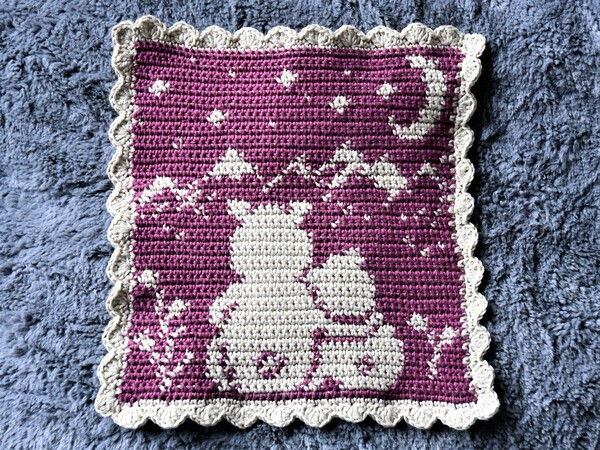 "Crochet Pattern Cloth ""Bear Tobi - Night in the mountains"""