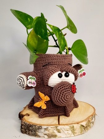 "Crochet Pattern ""Klaus"" the tree jar final"