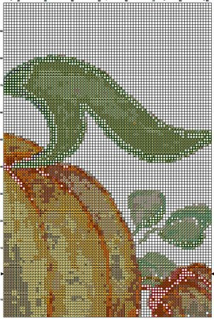 Pumpkin 1 Cross Stitch Pattern PDF