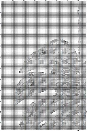 Palm Tree Leaf 1 Cross Stitch Pattern PDF