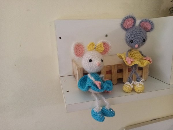 Pretty Mouse. Crochet pattern