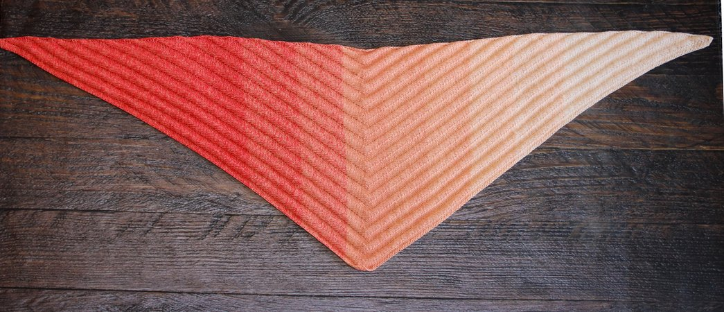 Shawl Fire Waves Kntting Pattern