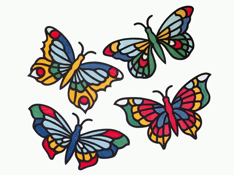 Schmetterling Vorlage Fensterbild Schmetterling 15