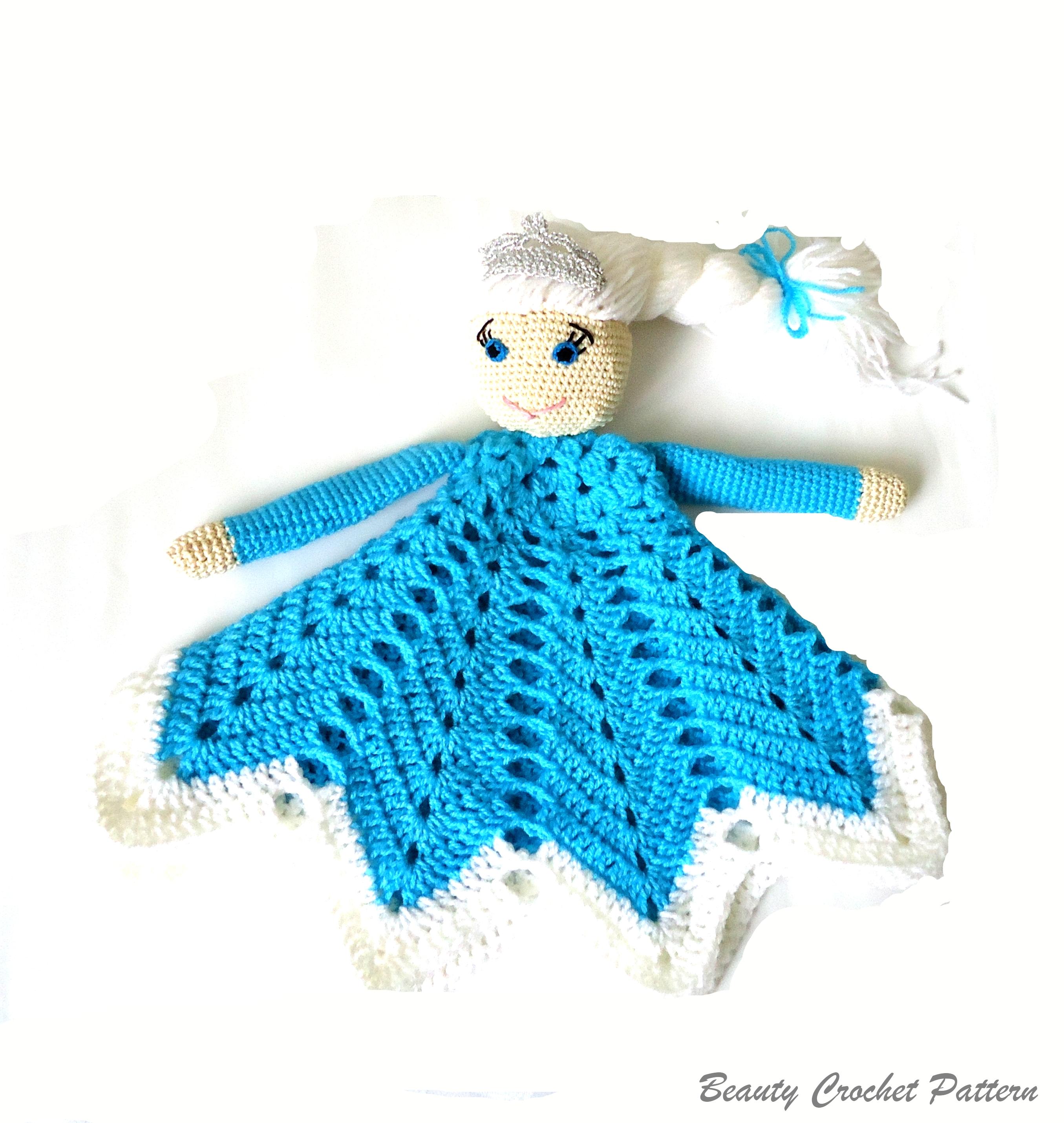 Tilly the Doll Lovey Pattern | Security Blanket | Crochet Lovey ... | 2859x2710