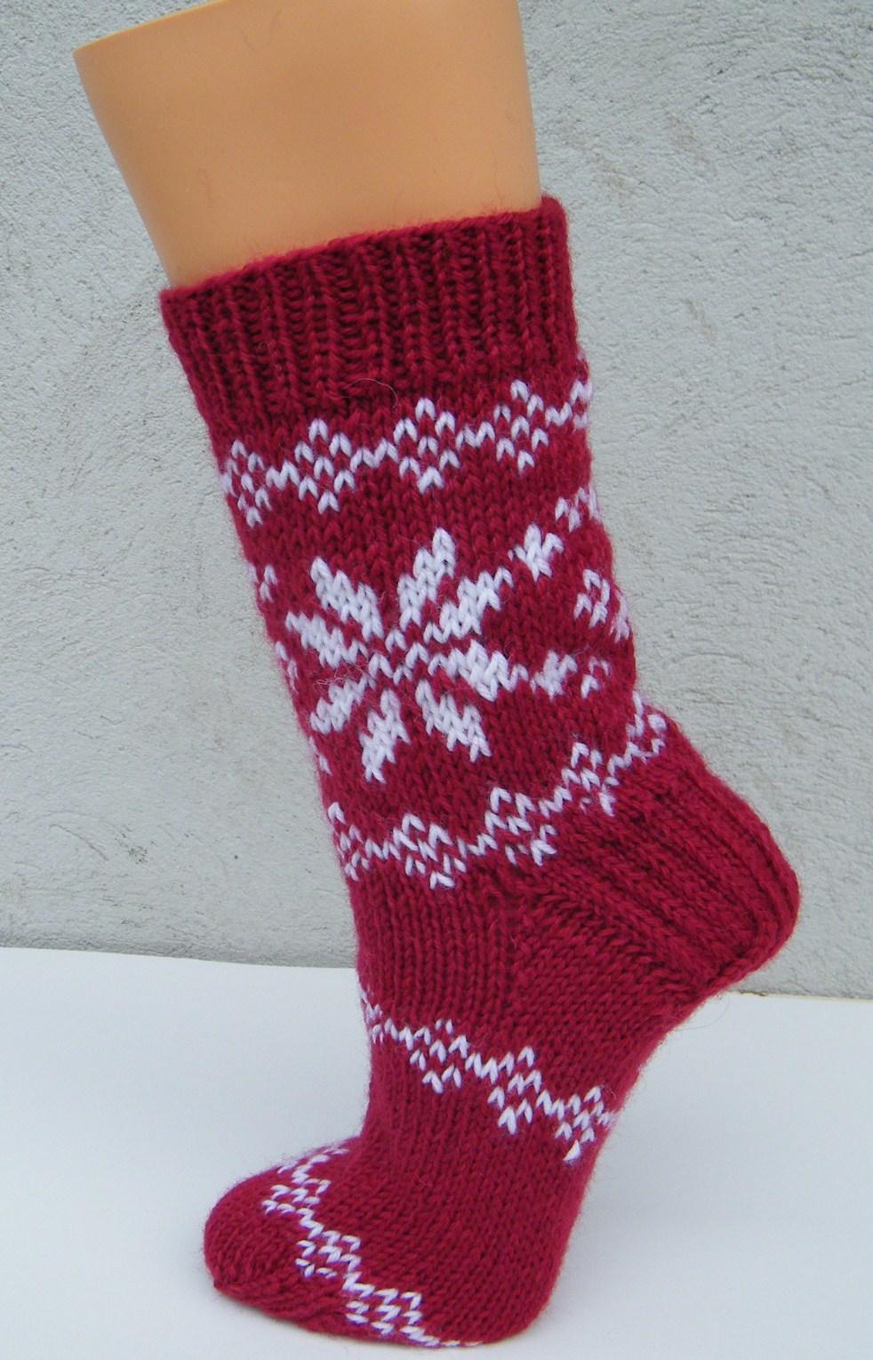 Strickanleitung Socken im Norwegermuster Gr. 20