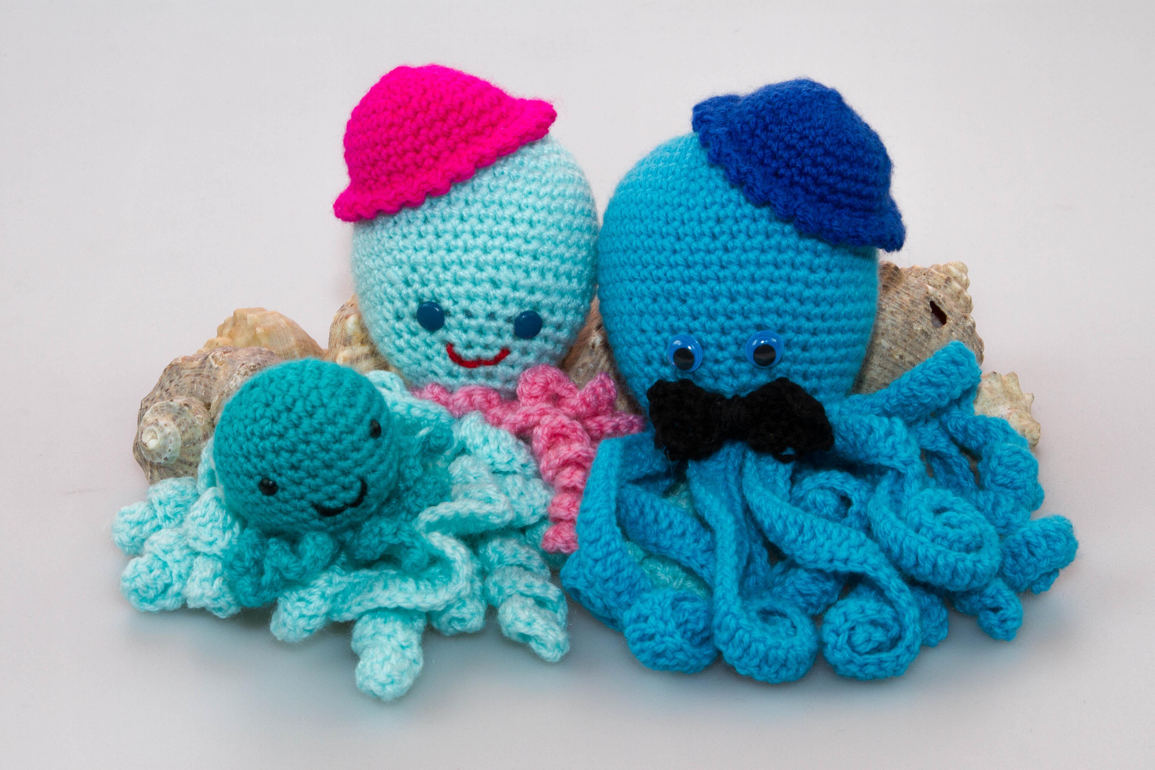 Free Crochet Pattern for Amigurumi Octopus ⋆ Crochet Kingdom | 2565x3847