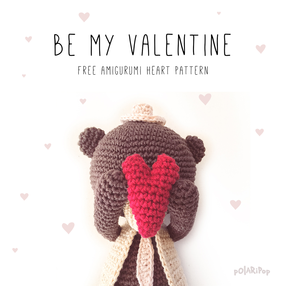 Owlishly: Corazoncitos, free amigurumi heart pattern (in 3 sizes!) | 1200x1200
