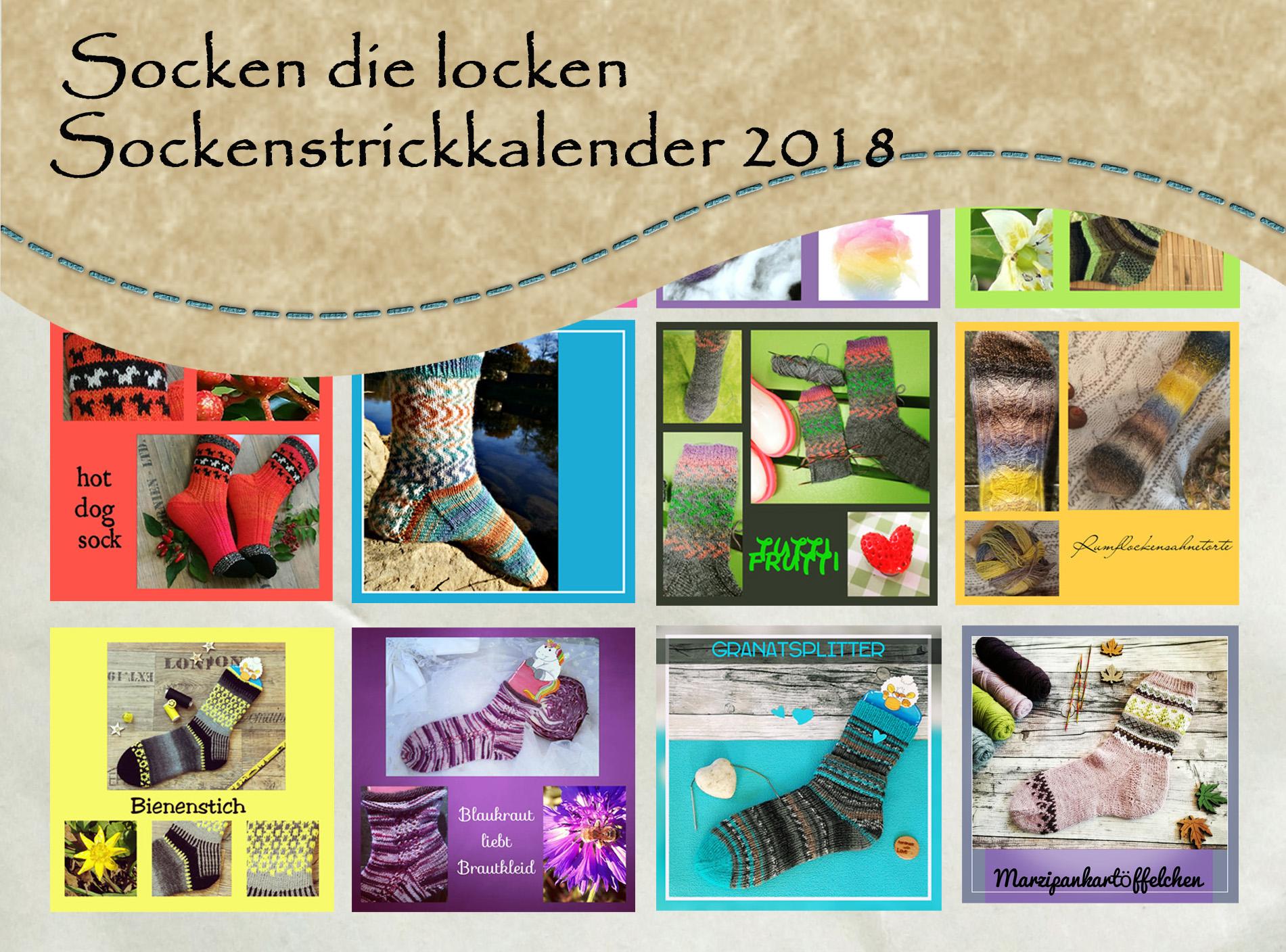 Kalender mit 12 Sockenstrickanleitungen 2020 Strickkalender 2020