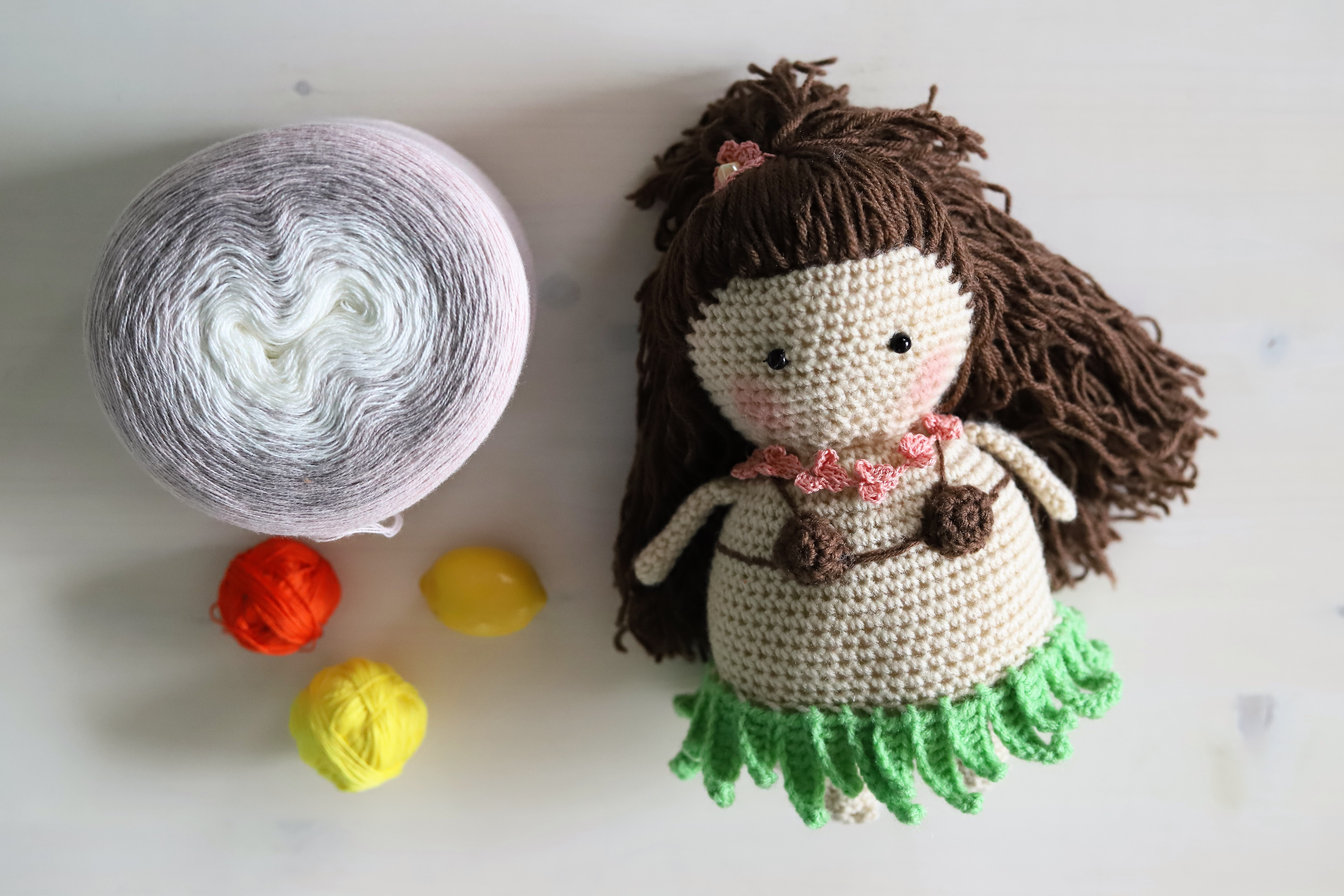 Lani the Hula Girl pattern by Neogurumi | Crochet dolls free ... | 4160x6240