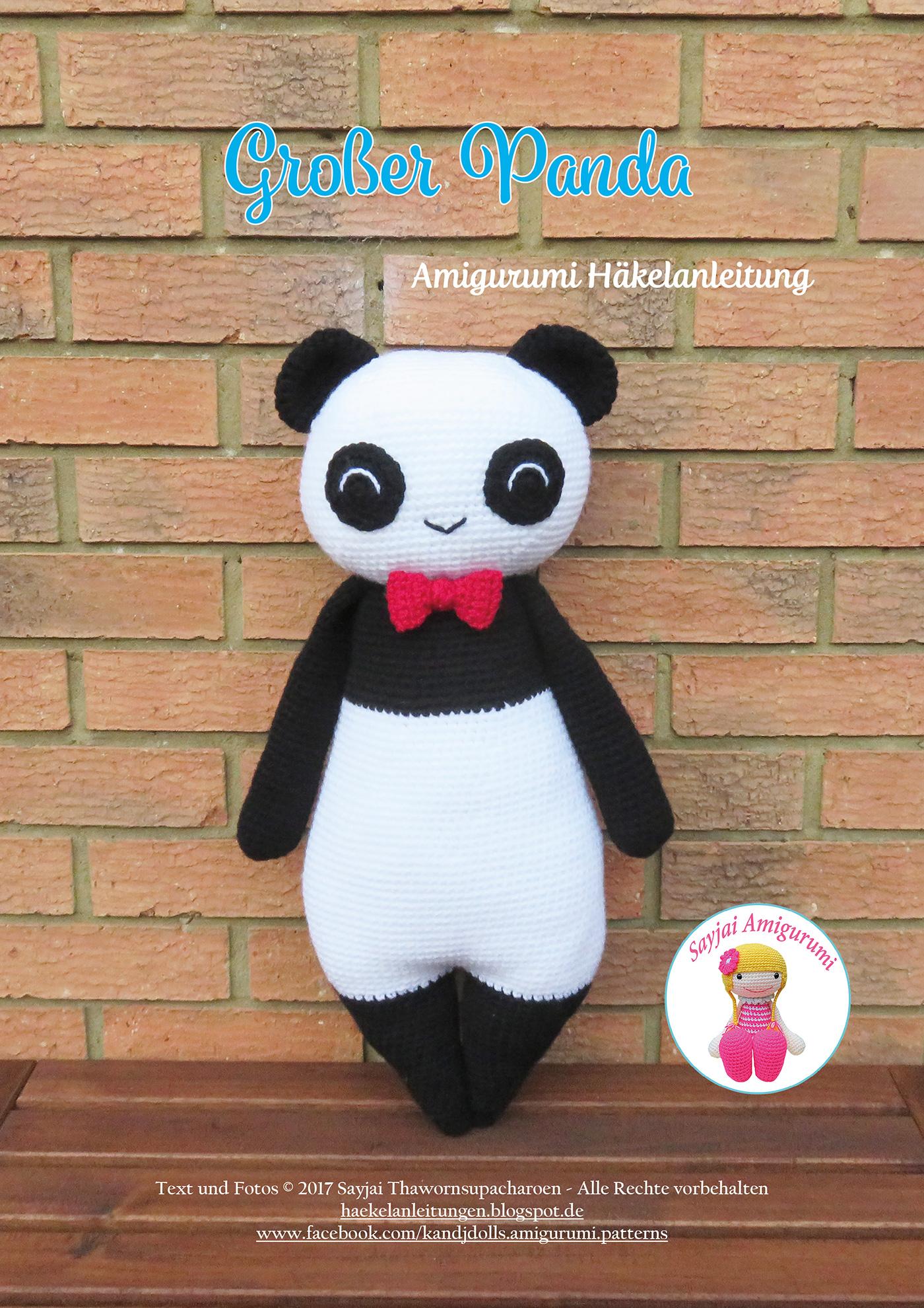 Panda häkeln   Tiere Häkelanleitung - Amigurumi DIY by ...   1980x1400