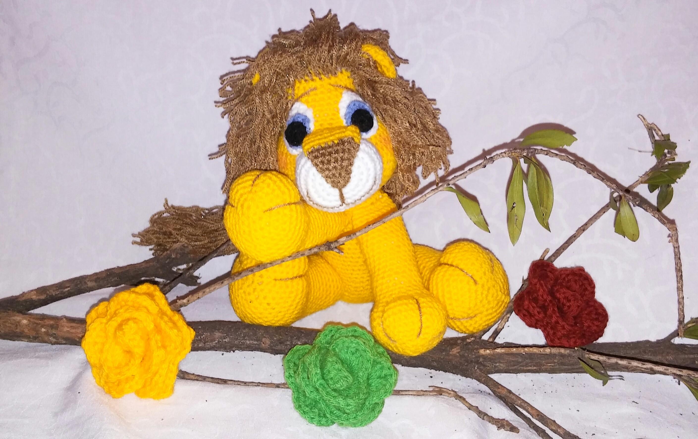 realistic crochet lion | Son's Popkes | 1774x2818
