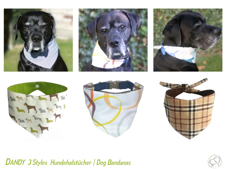Dog Bone 4 patterns Dog bandanas