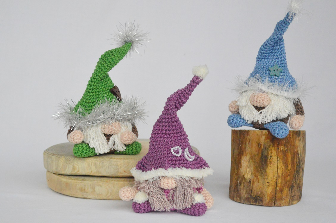 Crochet Gnome Pattern Garden Gnome Amigurumi pattern Includes Mushroom instructions Jerome the Gnome UK and US Terms plus photo guide