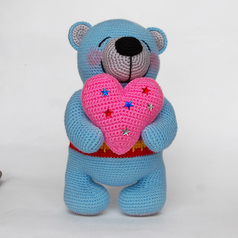 Free Teddy Bear crochet pattern - Amigurumi Today | 1000x1000