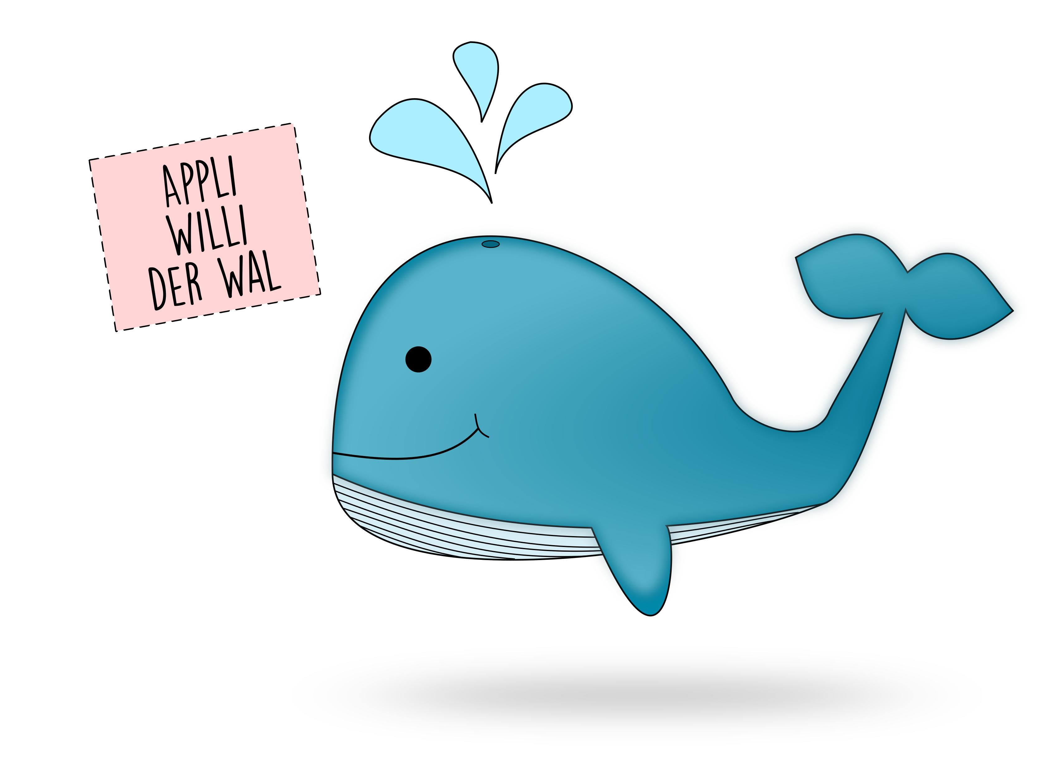 Applikationsvorlage Willi der Wal