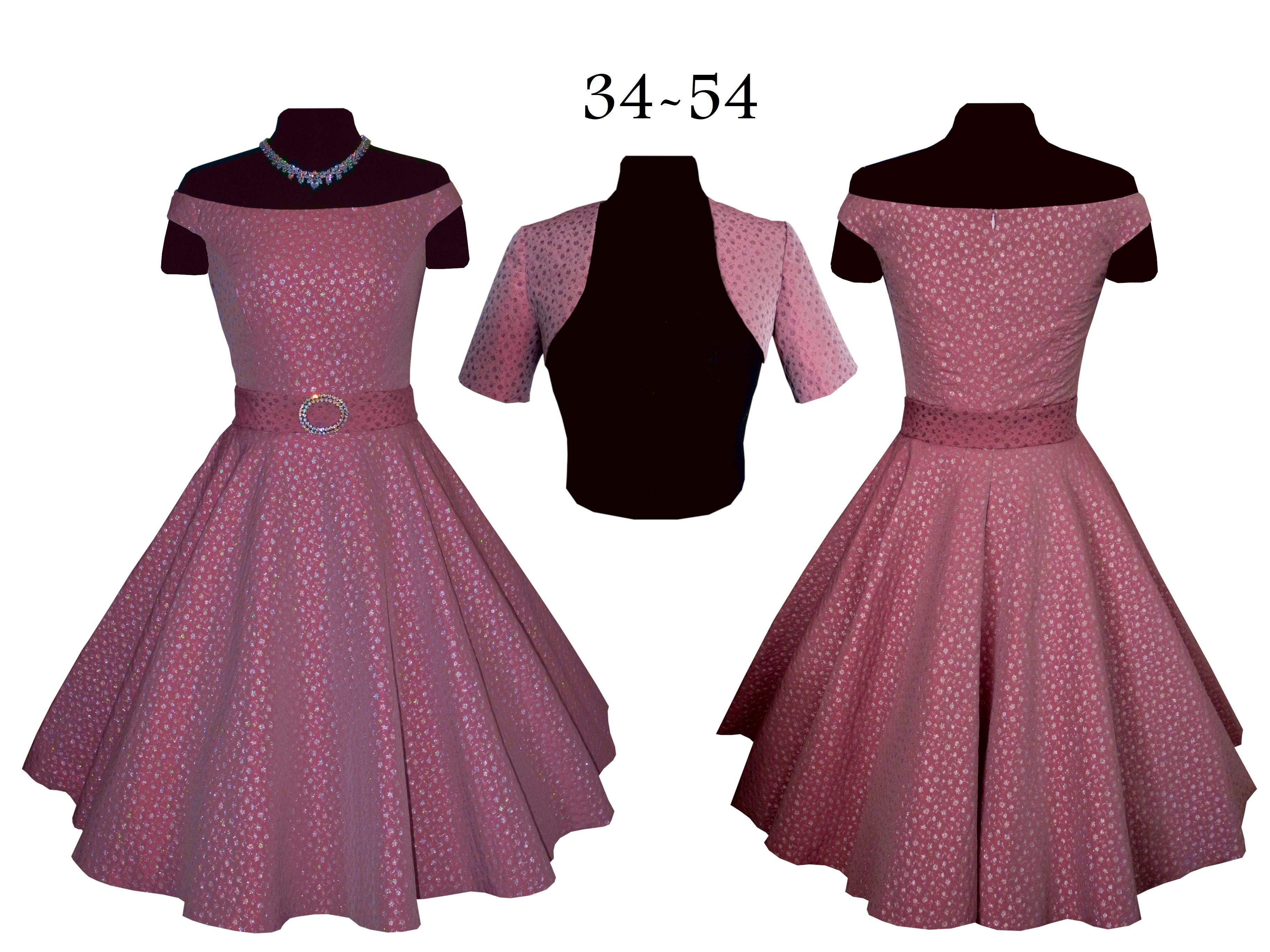 morgana:schnittmuster+bildnähanleitung(ebook)petticoatkleid+bolero  gr.34-54,50ies kleid,retrokleid,50er jahre kleid,große größen,bolero