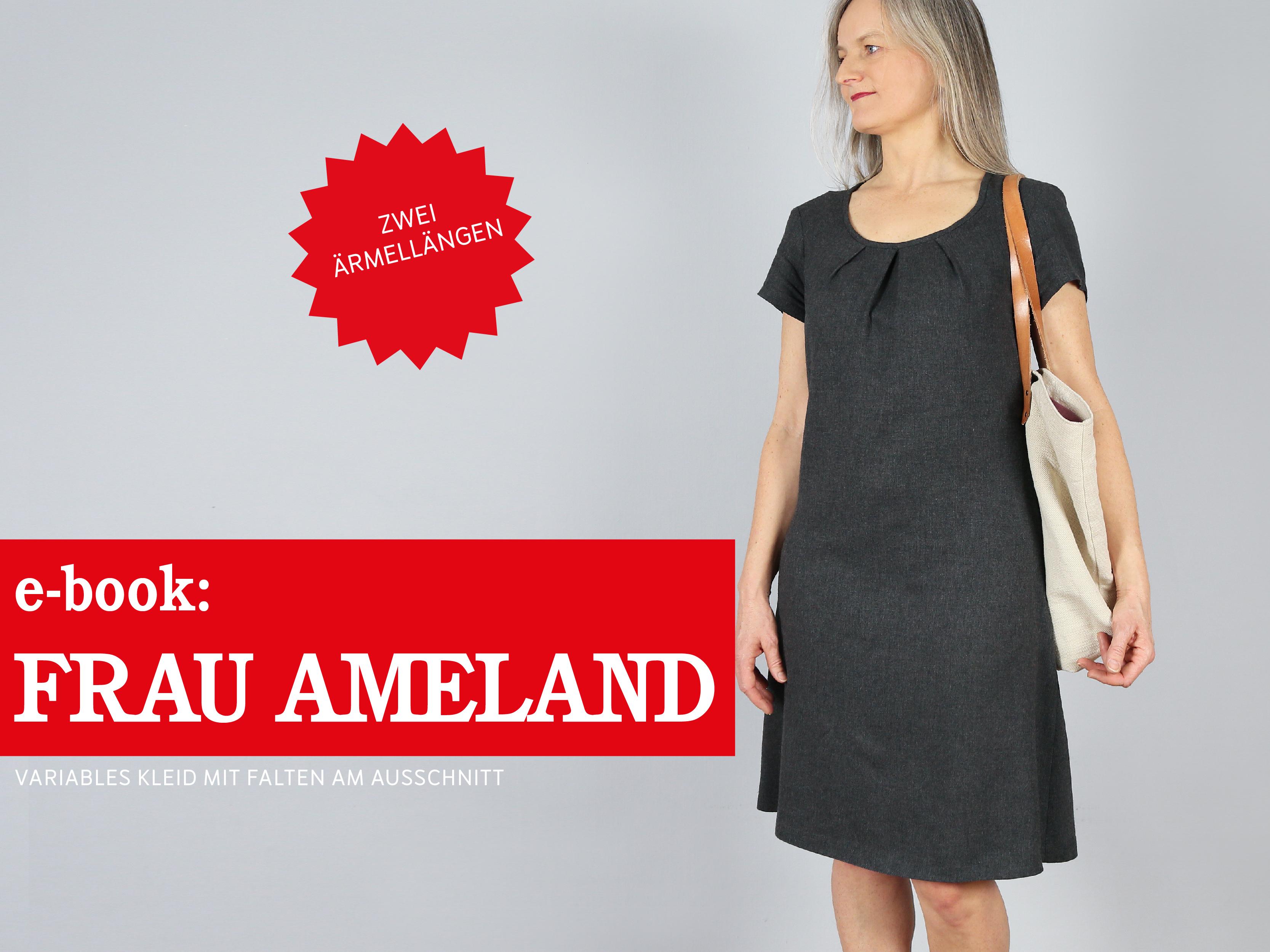 frau ameland kleid mit falten am ausschnitt, e-book