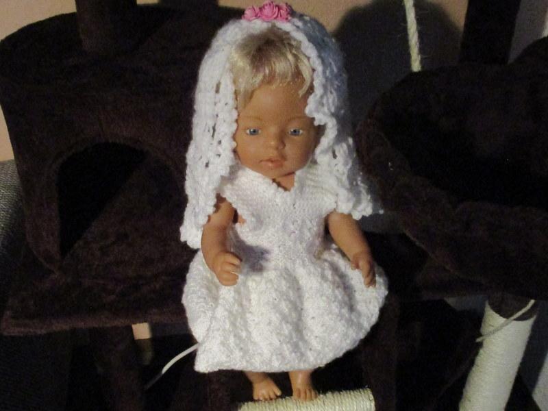 Schöne Puppe Brautkleid mit Schleier Haarschmuck Kleidung Für Mellchan