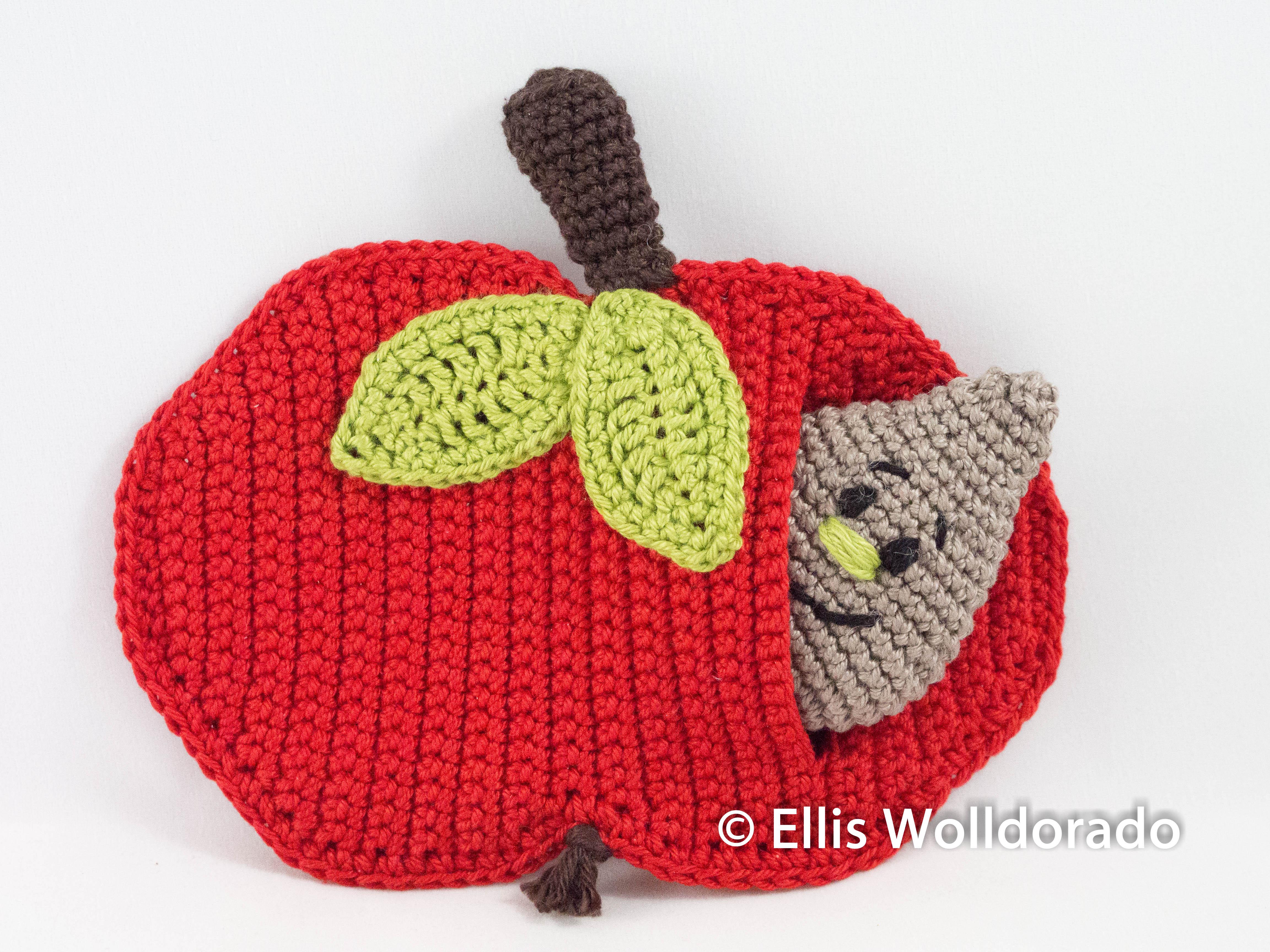 Apfel häkeln - Anleitung für Amigurumi Früchte   Obst häkeln ...   3456x4608