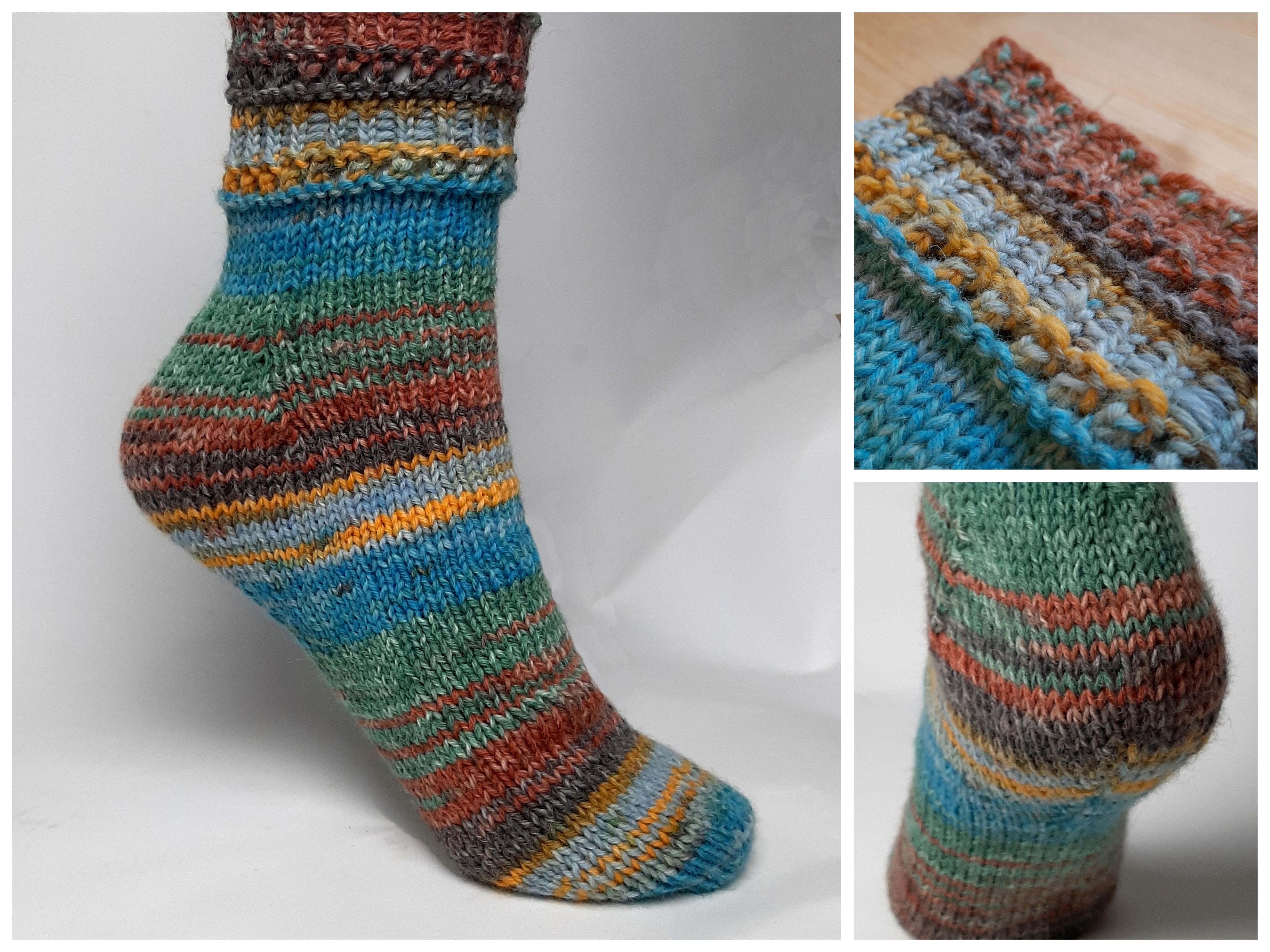 Socken stricken So einfach wie noch nie Fixe Ferse Toe Up, mit 20 fach  Garn, Gr.20 20