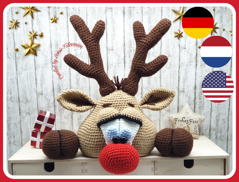 small reindeer crochet step by step amigurumi - YouTube | 2000x2621