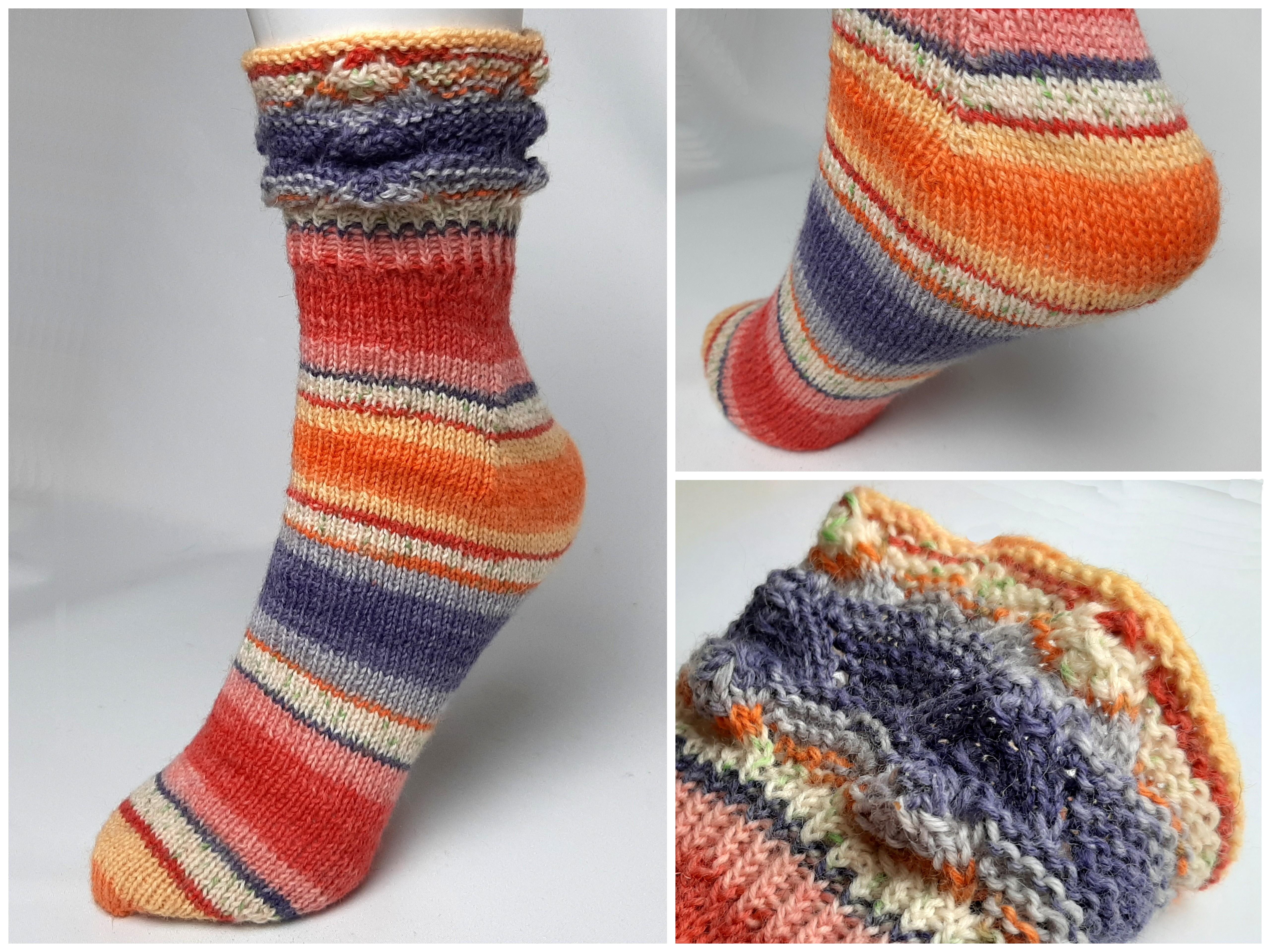 Fixe Ferse, Socken stricken für Anfänger, Gr.20 20