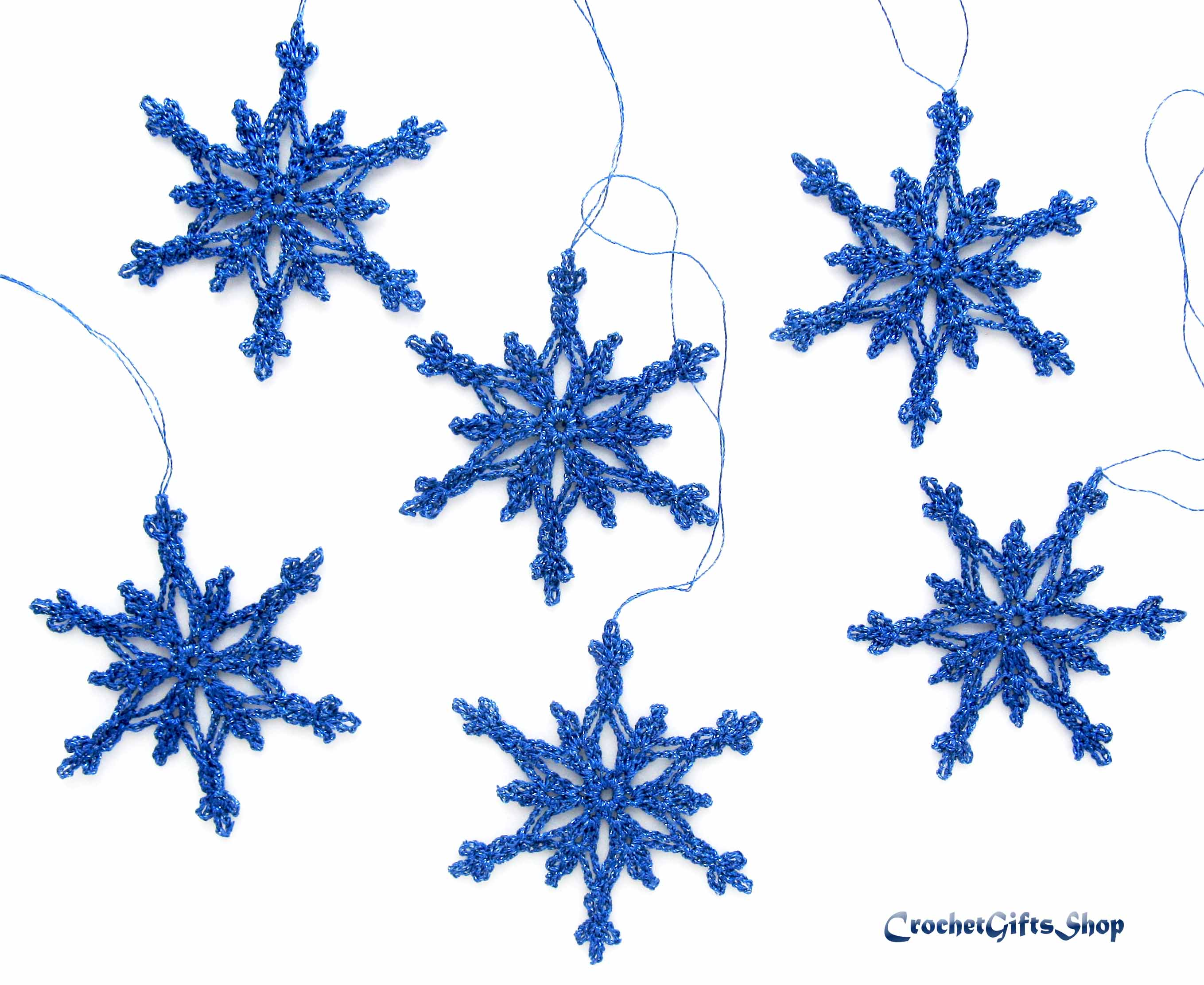 Crochet Pattern Christmas Snowflake Ornaments 6