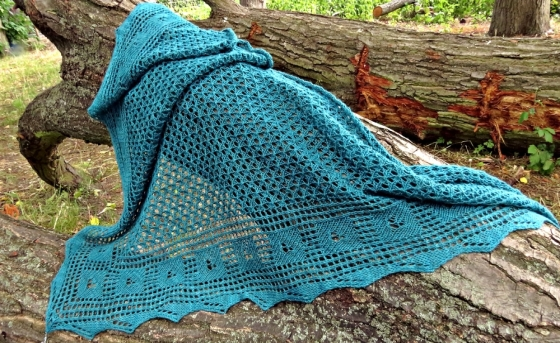 Knitting pattern shawl Nimrodel