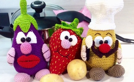 The Kitchenkings Gini & Berry & Pelle - Crochet Pattern english