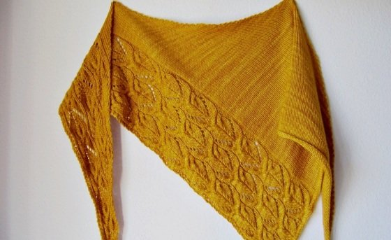 "Knitting pattern shawl ""Sunflowers"""