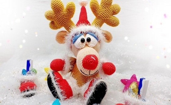 Crochet Pattern Elk - Christmas Elk - English