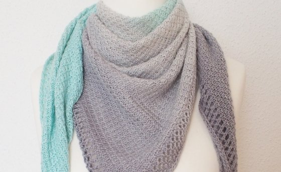 Trilogy shawl - full reversible - beginner