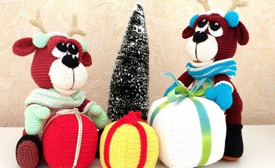"Crochet Pattern "" The Moose Brothers"""