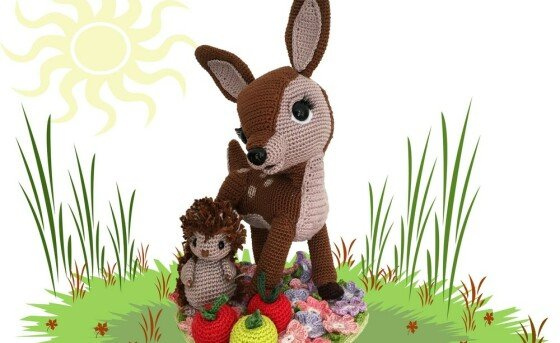 Deer and Hedgehog Pattern Amigurumi PDF Deutsch - English - Dutch