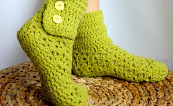 Easy and Quick crochet pattern Socks - Size UK: 3,5-9.